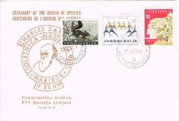 16723. Carta F.D.C. PORTOROZ (Jugoslavia) 1960. Darwin Origin Species - FDC