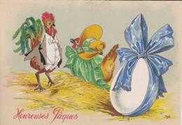 Carte Postale    BARRE & DAYEZ      HEUREUSES  PAQUES    1447 B - Pâques