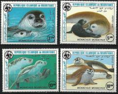 MAURITANIE, Faune Marine, WWF, Yvert 575/78 ** Neuf Sans Charniere. MNH - Vie Marine