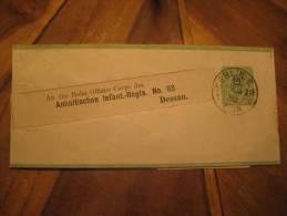 Berlin 1883 To Dessau Offizier Corps Anhaltischen Infant. Regts. Nº93 Militar Postal Stationery Wrapper Germany Sta - Ganzsachen