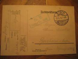 Bitsch 1915 To Pforzheim ? Feldpost On Card Militar War WW1 Germany