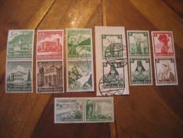 7 Zusammendruke Pair Stamp Third Reich Deutsches Reich Militar War Germany - Deutschland