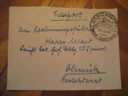 Solbad Hall 1943 To ?nitz Kurort Thermal Health Spa Feldpost Cancel On Letter Third Reich Deutsches Reich Germany - Germany
