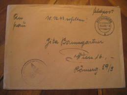 Bergzabern 1943 To Wien Feldpost Swastika Eagle Cancel On Cover Third Reich Deutsches Reich Germany - Germany