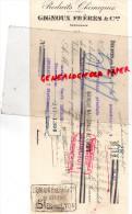 69 - DECINES PRES LYON - MANDAT GIGNOUX FRERES- FABRICANTS PRODUITS CHIMIQUES-1913 - France