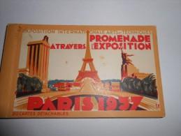 PARIS 1937 - PROMENADE A TRAVERS L'EXPOSITION - 13 Vues - - Expositions