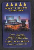 HOTEL KEY CARD - CIRCUS HOTEL  ( LAS VEGAS ) - - Hotel Keycards