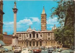 ROMA Basilica Santa Maggiore, Animata Con Auto D´epoca FIAT 124 600 LANCIA FULVIA  Ed Altre - Kirchen