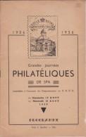 BELGIUM JOURNEES PHILATELIQUES DE SPA 1956 Brochures Avec Annotations Manuscrites D´époque. Bon Etat - Briefmarkenaustellung