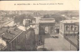 POSTAL  MONTPELLIER  -FRANCIA  ARCO DE TRIUMFO Y BANDEJA DEL  PEYROU  (ARC DE TRIMPHE ET PLATEAU DU PEYROU ) - Montpellier