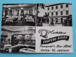 Hostellerie Châpeau Rouge Tél 087/52111 ( Lander N° 6132) Anno 1947 ( Visite/Reclame Kaart / Zie Foto´s Voor Detail ) ! - Eupen