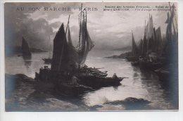 REF 240  : CPA Salon De Paris Au Bon Marché 1914 Weury Barnoin Fin D'orage En Bretagne - Peintures & Tableaux