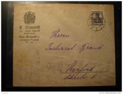 1918 BAD SALZUFLEN To Herford Stamp On Cover Thermal Health Spa Germany Deutsches Reich - Alemania