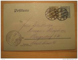 1906 Zittau To Neugersdorf (3+2)pf Germania Stationery Postkarte Germany Deutsches Reich III Third Reich - Briefe U. Dokumente