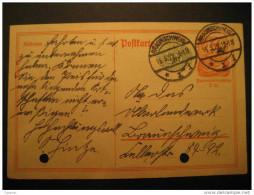 1922 Braunschweig 40 Horse + 35 Number Postal Stationery Card Germany Deutsches Reich - Allemagne