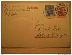 1920 Dresden 20 Pf + 10 Pf Germania Stationery Postkarte Germany Deutsches Reich III Third Reich - Allemagne