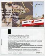 Ticket concert m�tal Misanthrope et Stille Volk - 5 d�cembre 2015 - Salle Ernest Renan � Toulouse