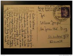 1942 BAD SASSENDORF Kurort Spa Thermal Health Hitler Stamp On Post Card Germany Third Reich Deutsches Reich - Deutschland