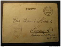 FELDPOST G/397 Marienburg 1941 Leipzig Third Reich Deutsches Allemagne Germany WW2 Swastika Eagle Soldier Militar Mail - Germany