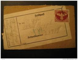 FELDPOST 27779 Zulassungsmarke Stamp Third Reich Deutsches Allemagne Germany WW2 Swastika Eagle - Germany