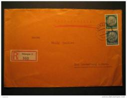 1937 Tubingen To Bad Lauterberg Kurort Health Medicine Spa 2 Hindenburg Stamp Germany Deutsches Reich III Third Reich - Deutschland