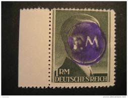 FREDERSDORF Michel 20A Perf 12 1/2 LOCAL Stamp Germany Overprinted Hitler FM Lokal Lokalausgaben - Altri