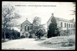 Cpa Du 72  Mamers -- Institution  Saint Paul -- Façade De La Chapelle Cachet 29è Bataillon Des Chasseurs à Pied FEV16 5 - Mamers