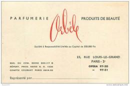 """PARFUMERIE """"ORBELE"""" - CARTE ANCIENNE Format 8 X 12 Cm - RUE LOUIS LE GRAND à PARIS 2°. - Perfume Cards"""