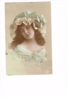 Carte Fantaisie - Fillette Thème Mode épaules Nues Robe Chapeau Dentelle - A.B.M. 183 - Imp M. Nicou Clichy - Szenen & Landschaften
