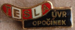Nikola TESLA Company Czechoslovakia Electronic Industry UVR Opocinek Pin Badge - Trademarks