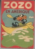 G-I-E , ZOZO EN AMERIQUES , cartonn� , texte et dessins de FRANCHI , 1942 , 2 scans ,  frais fr : 3.50�