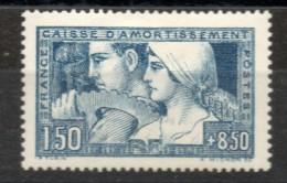 N°252 NEUF *  SUPERBE COTE 180 EUROS - Caisse D'Amortissement
