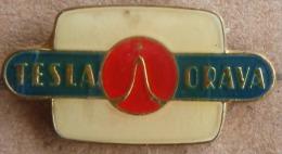 Nikola TESLA Company Czechoslovakia Electronic Industry Orava Pin Badge - Trademarks