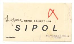 René Scheffler Nancy - Visitenkarten