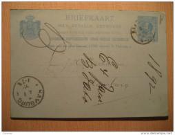 Haarlem 1892 To Hamburg Germany Postal Stationery Card Holland Netherlands - Periode 1891-1948 (Wilhelmina)