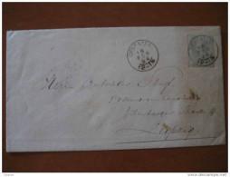 1894 Deventer To Leipzig ALEMANIA GERMANY 12 1/2c Sobre Entero Postal Stationery Cover Holland Netherlands - Periode 1891-1948 (Wilhelmina)