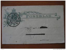 1899 Amsterdam 3c Postblad Entero Postal Stationery Entier Postaux Holland Netherlands - Periode 1891-1948 (Wilhelmina)