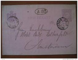 1891 Rotterdam To Amsterdam 2 1/2 C A83 Tarjeta Entero Postal Card Stationery Carte Entier Postaux Holland Netherlands - Periode 1891-1948 (Wilhelmina)