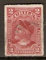 CHILI     -   1900 .  Y&T N° 35 Oblitéré.    Christophe Colomb. - Cile