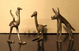 ART AFRICAIN: HYENE, MARABOUT ET AUTRUCHE - (Cire Perdue) - Art Africain