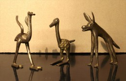ART AFRICAIN: HYENE, MARABOUT ET AUTRUCHE - (Cire Perdue) - African Art