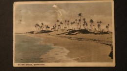 Barbados Post Card Silver Sands Cancelled 1934 A04s - Barbados (...-1966)