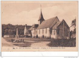 27. Eure : Pinterville . L ´ église  Et Le Monument Aux Morts . - Pinterville