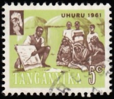 TANGANYIKA - Scott #45 Teacher Instructing Villagers / Used Stamp - Great Britain (former Colonies & Protectorates)
