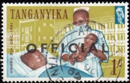 "TANGANYIKA - Scott #O27 Nurse Showing Infant ""Overprinted"" (*) / Used Stamp - Great Britain (former Colonies & Protectorates)"