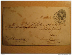 St. Petersburg Petersbourg Cancel 1880 To Bern Switzerland Postal Stationery Cover RUSSIA - 1857-1916 Imperium