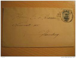 Latvia Latvija Riga 1892 To Hamburg Germany Postal Stationery Cover RUSSIA - 1857-1916 Empire
