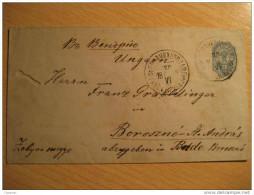 1892 To Boroszno St. Andras Szentandras Hungary Ungarn Postal Stationery Cover RUSSIA - 1857-1916 Empire