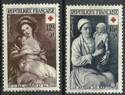 """FR YT 966 & 967 """" Croix-Rouge """" 1953 Neuf* - France"""