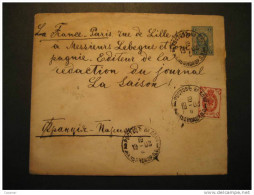 RUSSIA 1902 To Paris France Journal La Laison Newspaper Journalism Postal Stationery Cover RUSSIE USSR CCCP - Briefe U. Dokumente